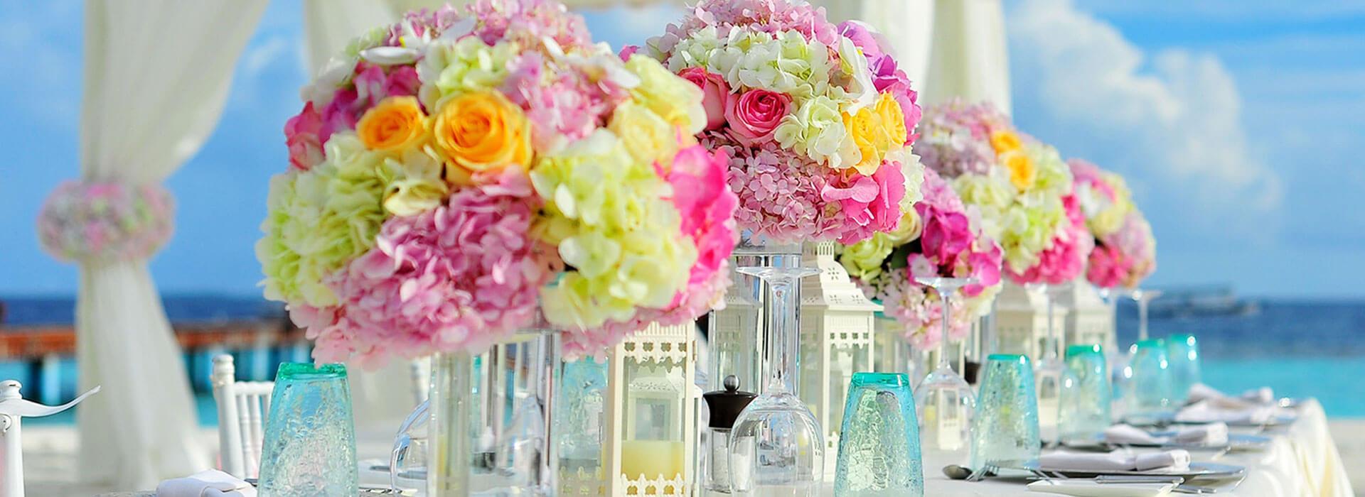 Arrangements für Hochzeit und Feste bei Blumen Bachhubers Florale Welten in Zwiesel